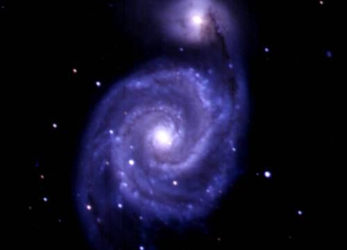 完成したM51子持ち銀河の画像は印刷してお土産に。