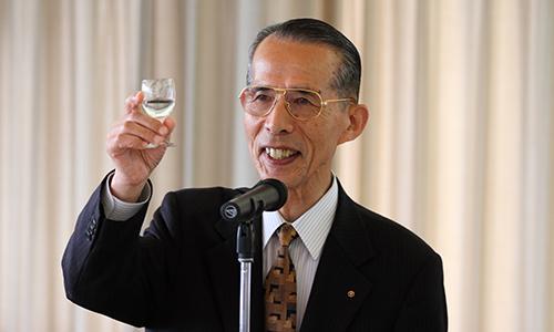 長尾眞 京都府参与(元京都大学総長・前国立国会図書館長)には乾杯のご発声をしていただきました