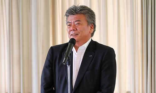 サイバー京都研究所における諸事業に向けた意気込みを語る長谷川亘KCGグループ統括理事長