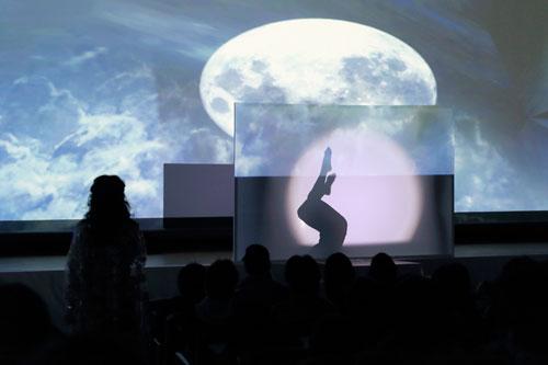 幻想的な月下のシャドウダンス