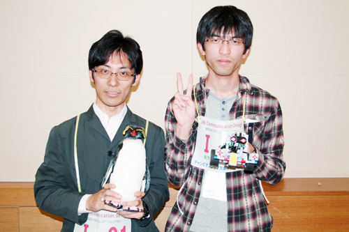 自作のロボット「イーグル113」で優勝を目指しました